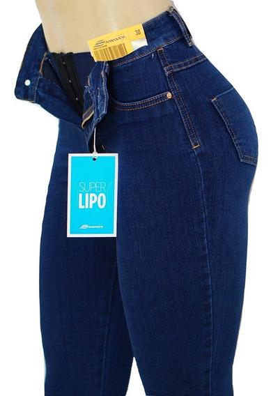 Calça Sawary Jeans Super Lipo Original Cintura Alta