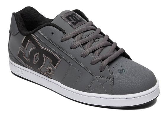 Tenis Para Skate Caballero Net Dc Shoes Color Gris
