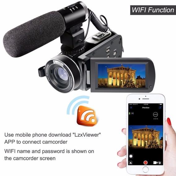 Câmeradigital,com Entrada, Para Microfone Externofulhdvideo