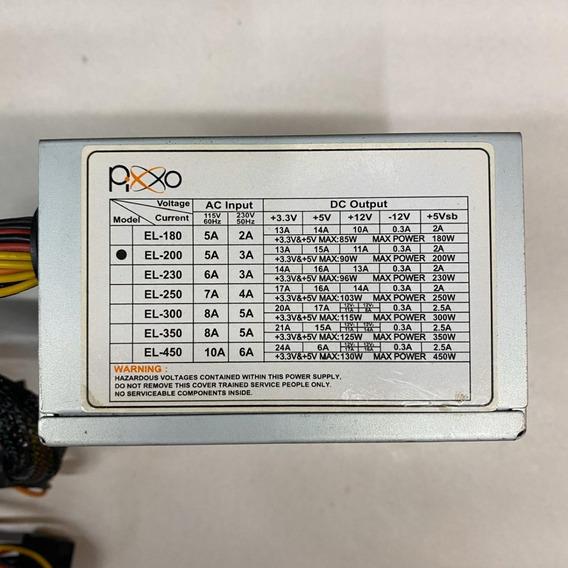 Fonte Mini Real Pixxo Model: El-200 24p 200w Sata