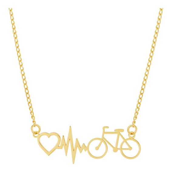 Colar De Aço (gold Ipg) Convex Bike - Coração 45cm 417145
