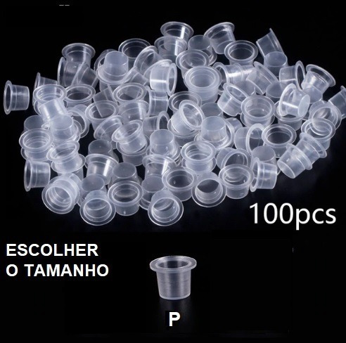 Batoques Descartáveis Pct Com 100 Unidades Tatuagem P/m