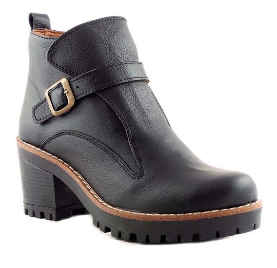 Borcego Mujer Bota Zapato Briganti Cuero Botinetas Mcbo24743