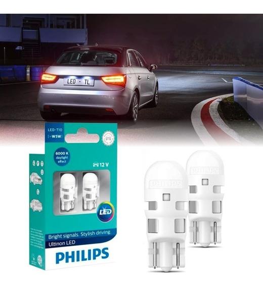 Lâmpada Philips Pingo Led Vision 6000k W5w T10 Super Branca