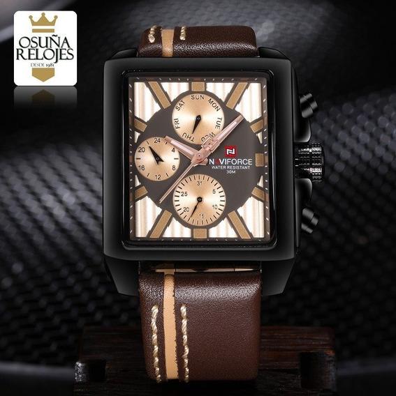 Relógio Masculino Naviforce De Couro Original