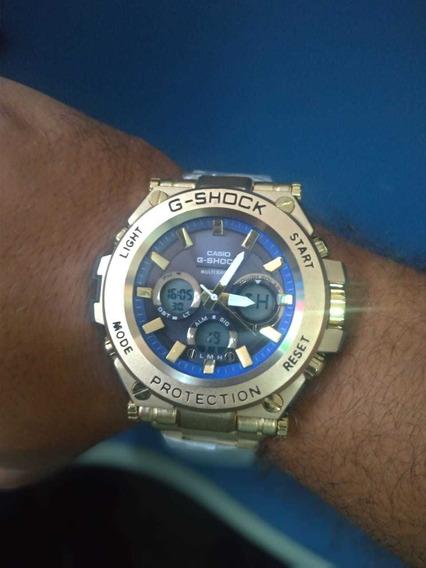Relógio Casio G-shock Gold De Aço.