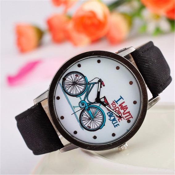 Relógio Estilo Bike Preto E Branco Social Bonito Barato Top