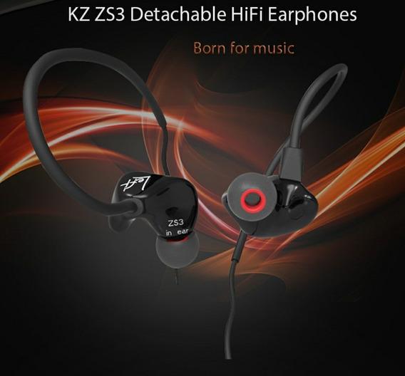 Fone De Ouvido Hifi Professional Kz Zs3 Frete Grátis