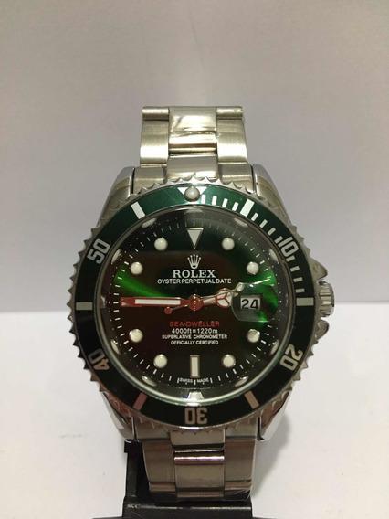 Relógio Submariner Silver Green