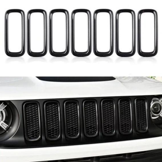 Moldura Aros Grade Frontal Preto - Jeep Renegade 2019/..