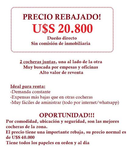 Dueño Vende 2 Cocheras Juntas - Rebajado!!! Seguridad 24hs