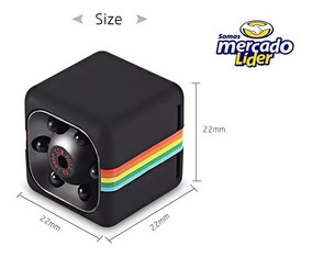 Sq11 Mini Camera 720p Visão Noturna Quelima Preta