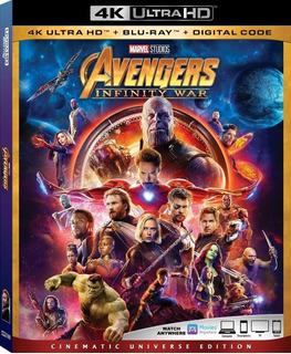 Avengers Infinity War 4k/bluray/digital Env. Gratis Ed. Amer