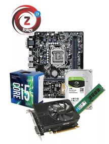 Kit I5 7400 8gb Gtx1050ti 4g Gamer 1tb Asus H110m + Brinde