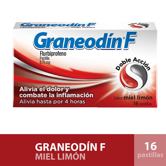 Graneodin F Sabor Miel Limón 16 Pastillas