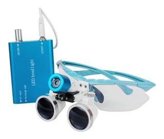 Gafas Lupa 3.5x420 Quirurgico Con Led