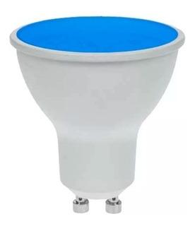 Dicroica Led 7w Ylx -gu10 120 Grados Color Azulx1
