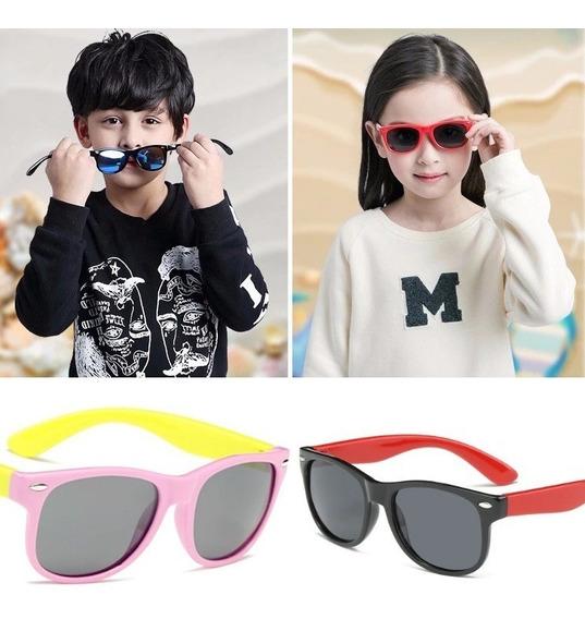 Óculos Infantil Resistente Flexível Lente Polarizada Uv400