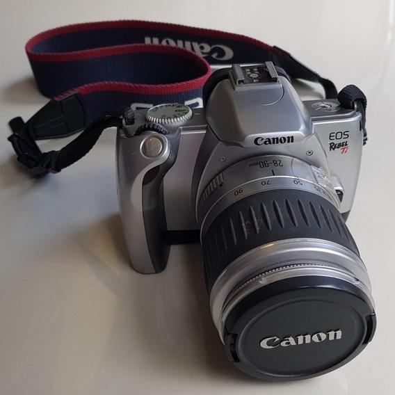 Câmera Analóg. Canon Eos Rebel Ti (300v) + Lente Ef 28 90mm