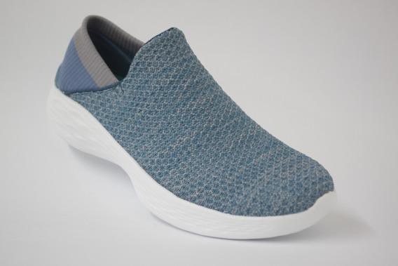 Tenis Skechers Para Mujer Color Azul Modelo 14951/blu