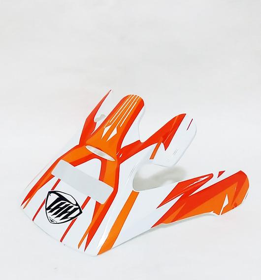 Pala Aba Visor Capacete Thh Tx10 Laranja Motocross Trilha