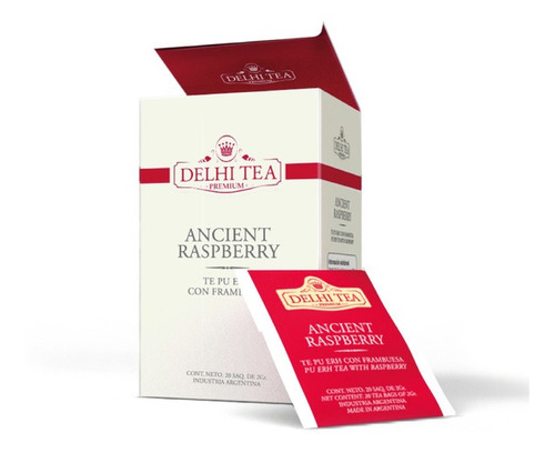Te Premium Delhi Tea X 20 Saq. Ancient Raspberry