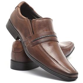 Sapato Social Alongado Trançado Em Couro Legitimo - Choco...