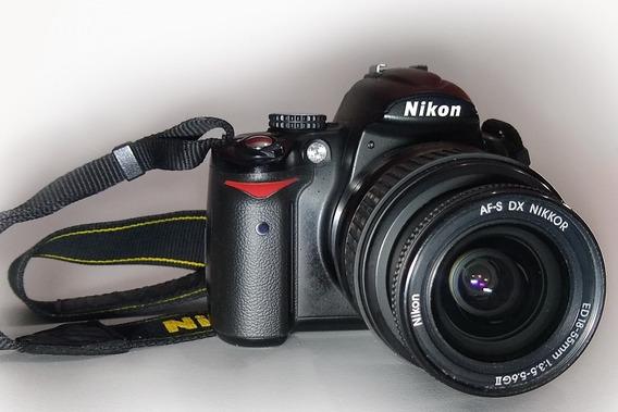 Nikon D5000 Con Lente Kit 18-55 Reparar Enfoque Automatico