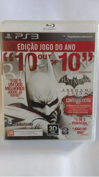 Batman Arkham City (goty) - Mídia Física - Ps3