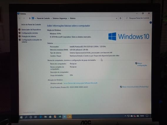 Computador Pentium G3250 Com 4gb Ram Hd 150gb Com Monitor
