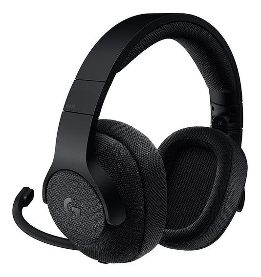 Headset Logitech G433 7.1 Preto Mp