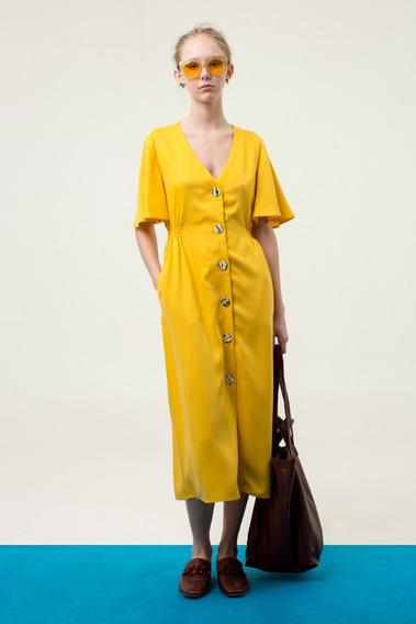 Vestido Enif Amarillo Las Pepas