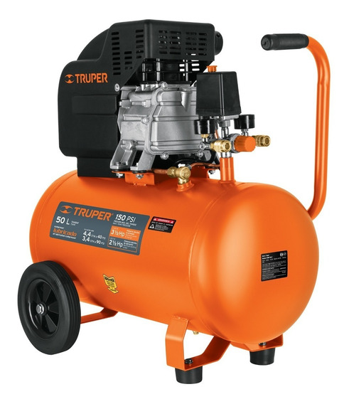 Compresora 50 Lt 2.5 Hp Horizontal Truper 15007