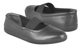 Flats Casuales Flexi Para Mujer Piel Negro 34401