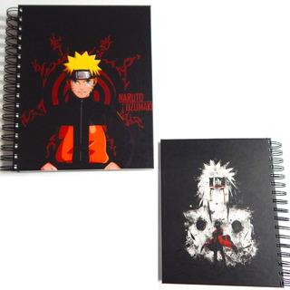 Naruto Cuaderno Uzumaki Sabio Jiraiya Pasta Dura 180 Hojas