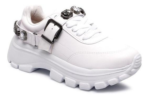 Tênis Sola Alta Vizzano Dad Sneaker 1356102 Com Pedraria