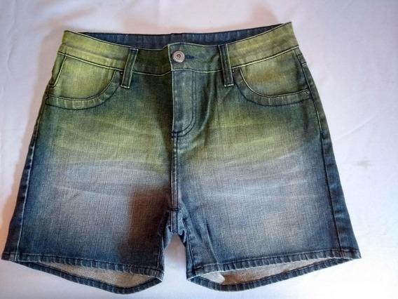 Shorts Em Jeans Manchado Ref Ss200