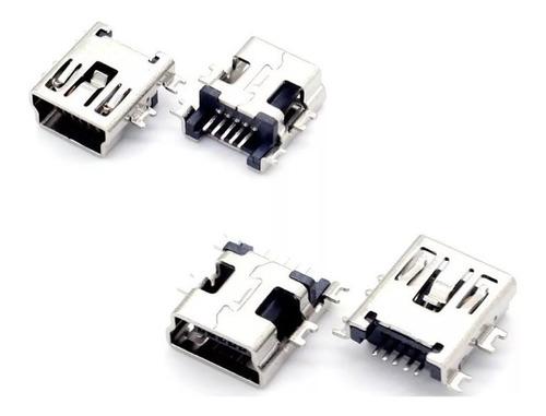 Kit 5un Conector De Carga Gps Mp3 V3 Jack Mini Usb 5 Pinos