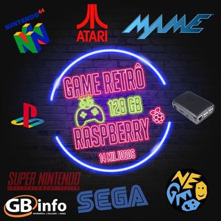 Vídeo Game Retrô Raspberry Pi3 Recalbox 128gb Controles Ps3