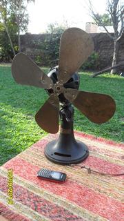 Antiguo Ventilador Siemens Paleta Bronce Para Deco Repuestos