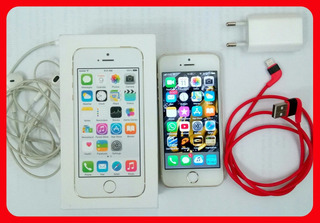 iPhone 5s 16gb Dourado Com Caixa Apple