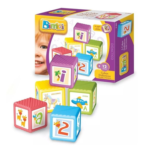 Cubos Apilables Bimbi 5 Piezas
