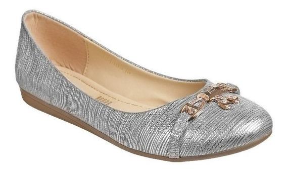 Zapato Mejillitas Flats, Piso Color Oro Ingles, Negro, Plata, Tan 440