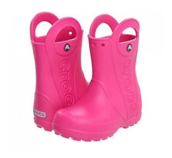 Bota Crocs Handle Boot Kids Fuchsia