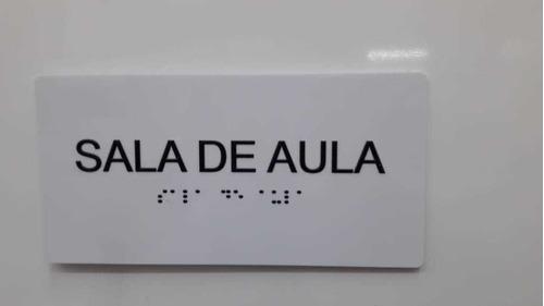 4pçs Placa De Indicação De Sala De Aula Braille E Relevo