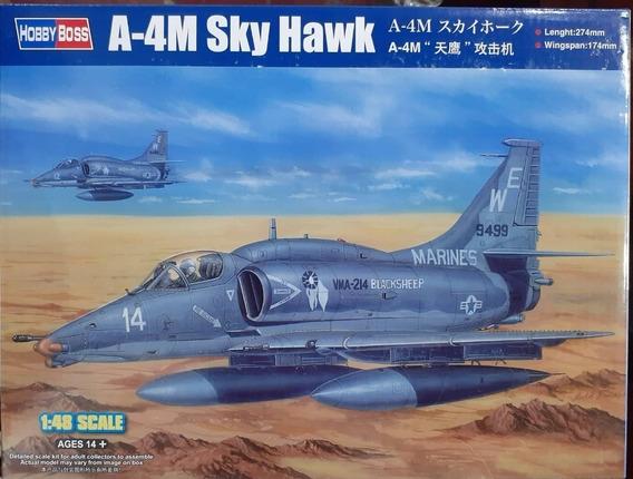 Maqueta Hobbyboss 81766 Avion A4 Skyhawk Esc 1/48 La Plata
