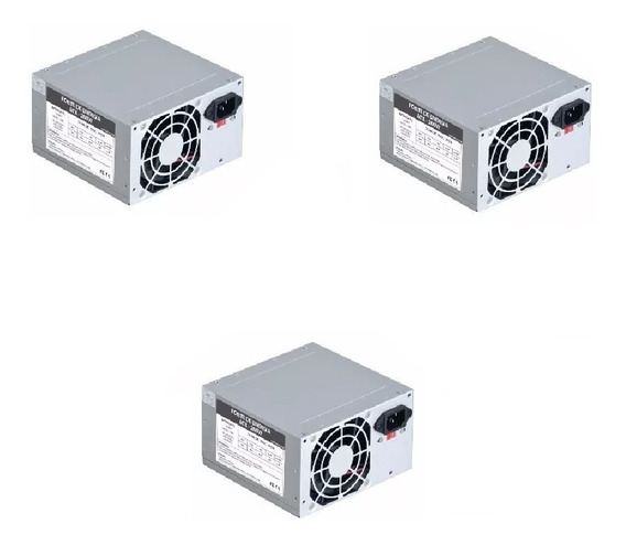 Kit 3 Fonte Pc Atx 230w Computador Pc 20+4pinos 2sata