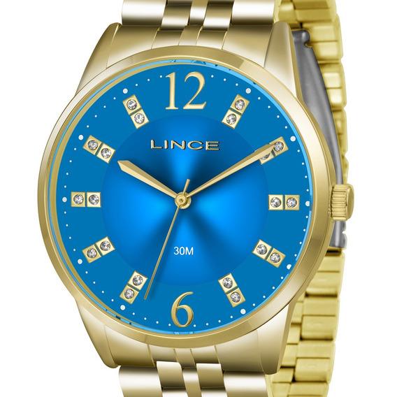 Relógio Lince Feminino Dourado Lrgj044l D2kx Original + Nf
