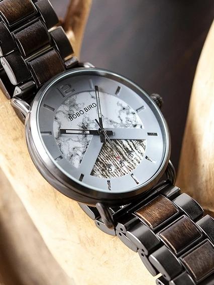 Reloj Bobo Bird Madera Y Metal