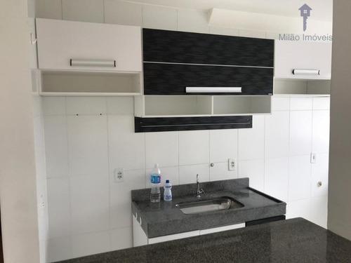 Apartamento Com 2 Dormitórios À Venda, 47 M² Por R$ 175.000 - Parque Sicília - Campolim - Votorantim/sp - Ap0775